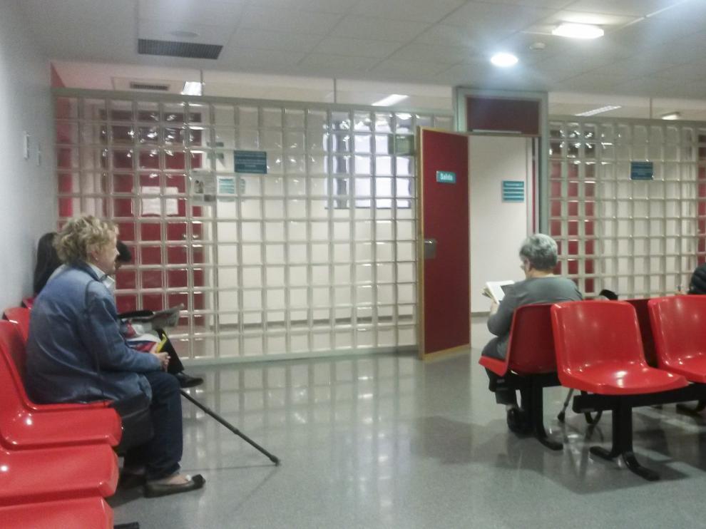 Sala de espera del Hospital Miguel Servet.