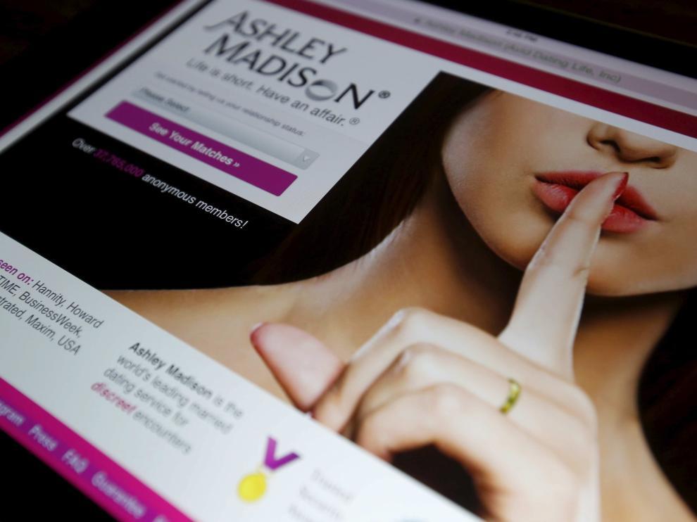La página web de citas estadounidense 'Ashley Madison'.