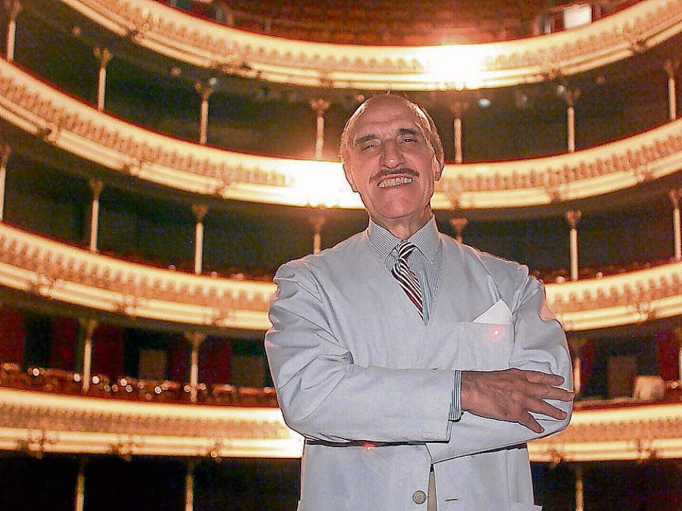 El actor José Sazatornil 'Saza', en el Teatro Principal de Zaragoza en 2001.