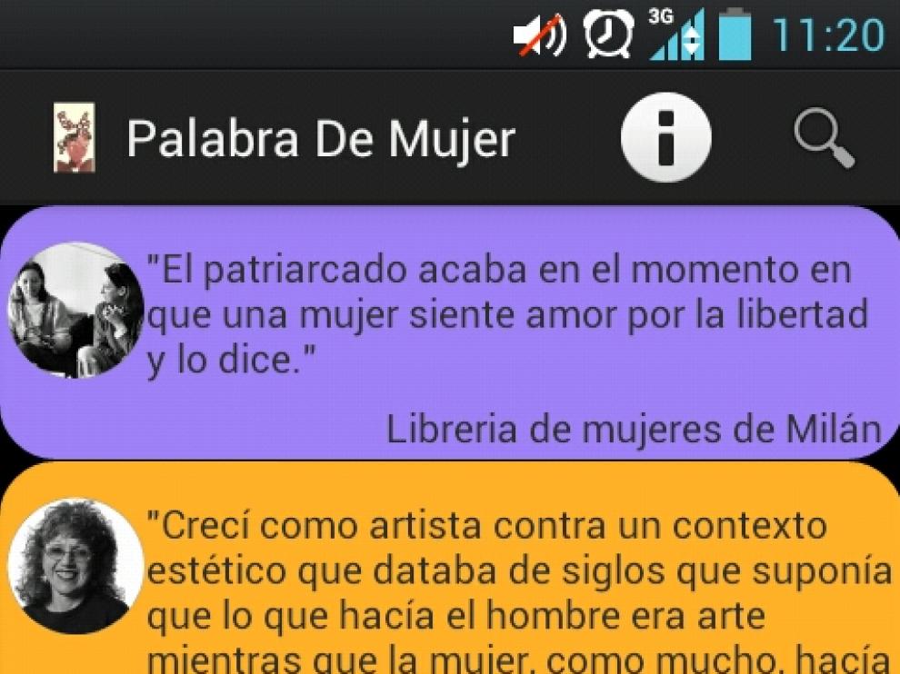 Captura de la app