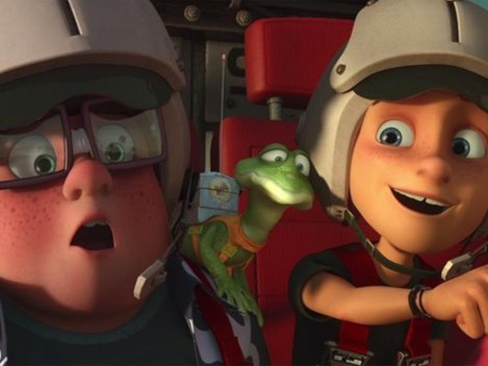 Fotograma de la película de animación 'Atrapa la bandera'