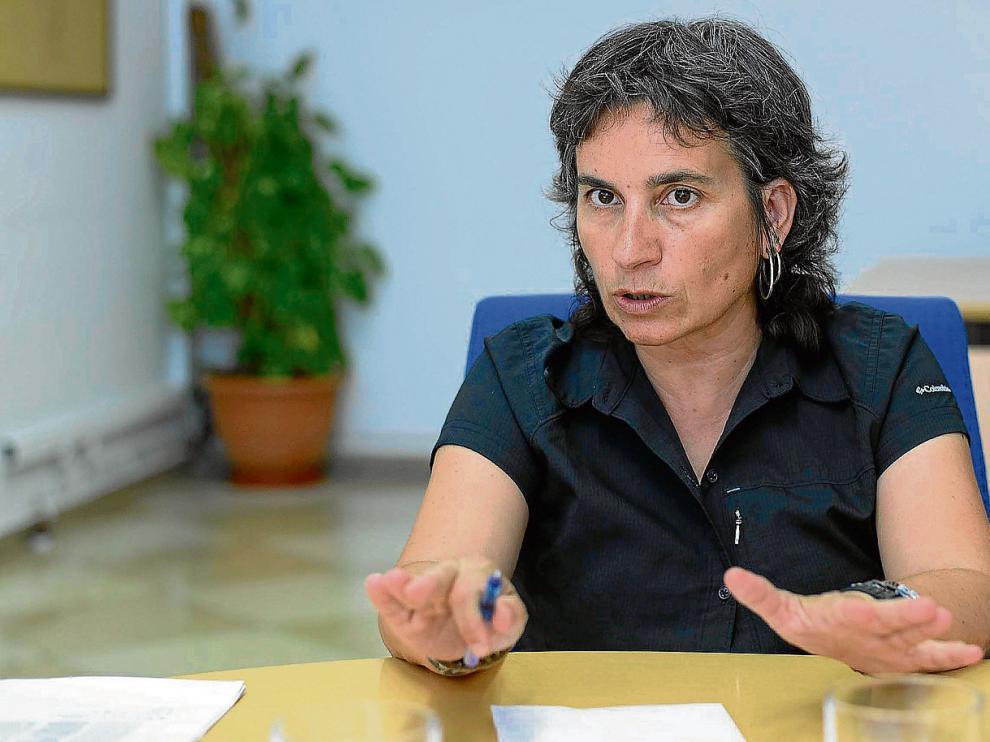 La vicealcaldesa y concejal de Derechos Sociales, Luisa Broto, durante la entrevista mantenida el pasado viernes.