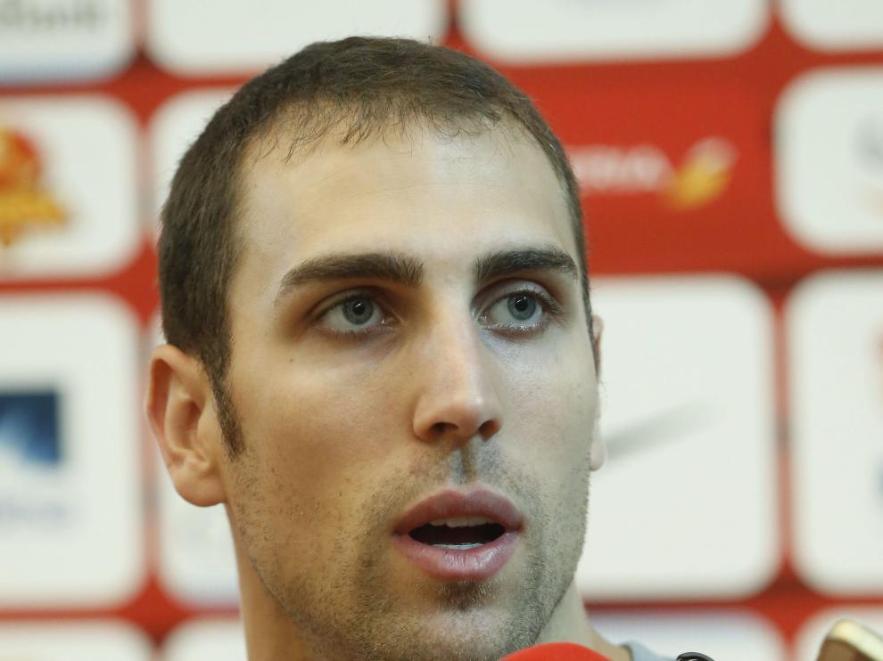 El jugador de la selección española de baloncesto Pablo Aguilar.