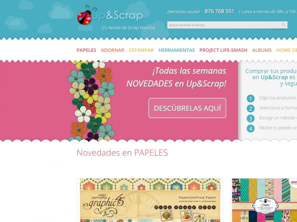 La marca Up and Scrap está especializada en la venta online de material de scrapbooking