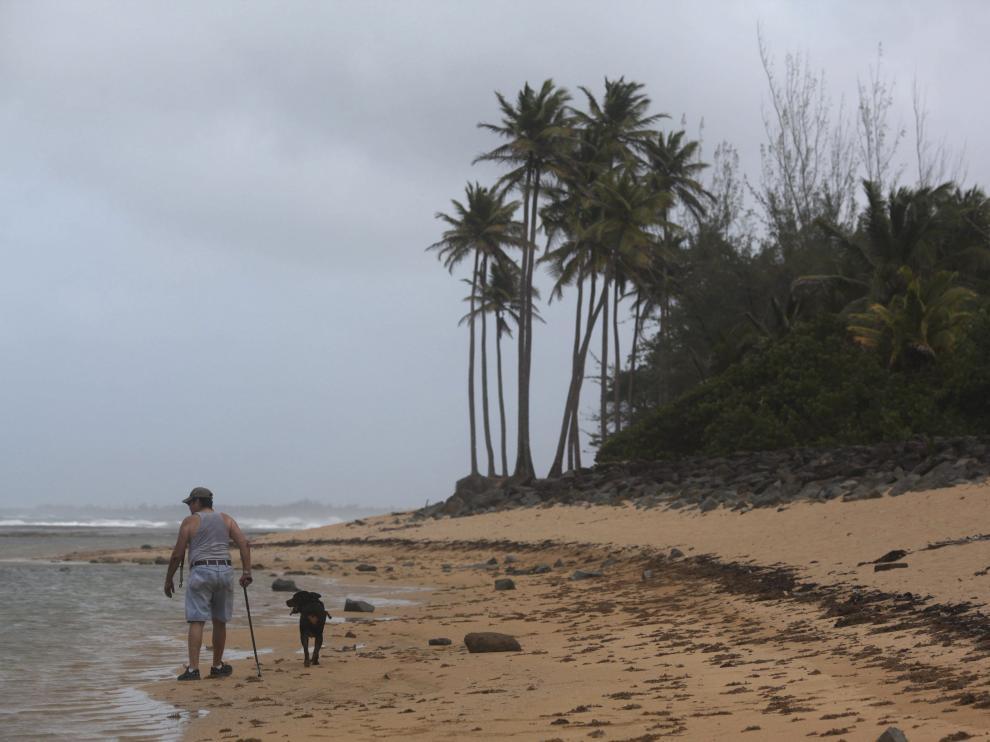 La playa de San Juan, en Puerto Rico, donde descargará el Erika.