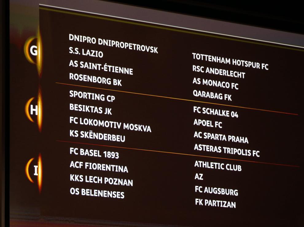 Así quedan repartidos los equipos en la fase de grupos de la Europa League.