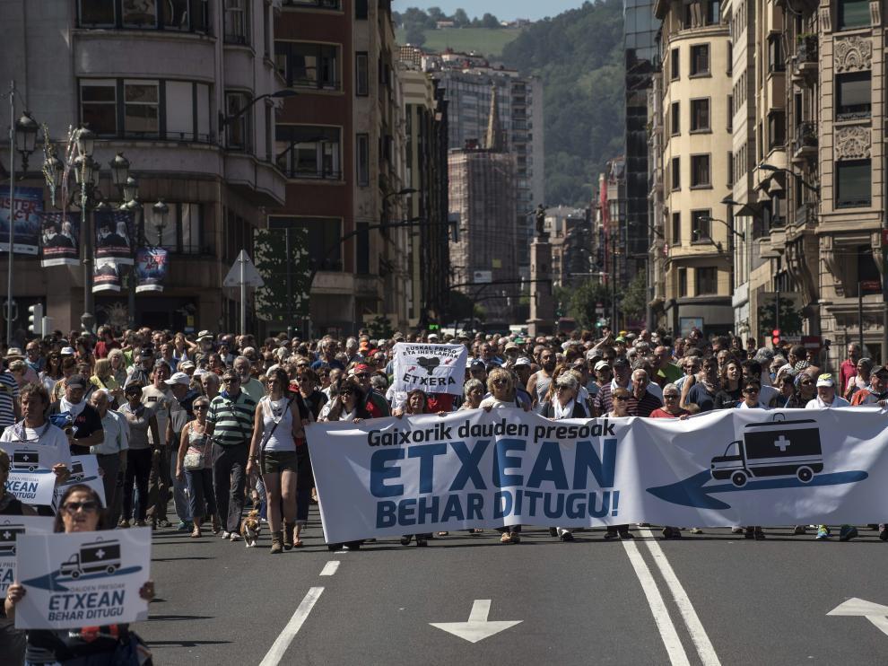 Manifestación de este viernes en Bilbao