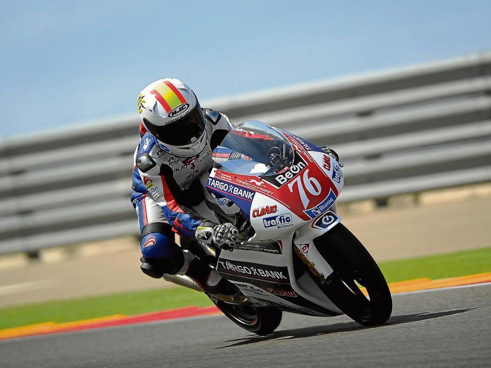 Julián Giral fue ayer el mejor piloto aragonés, cuatro en Premoto 3.