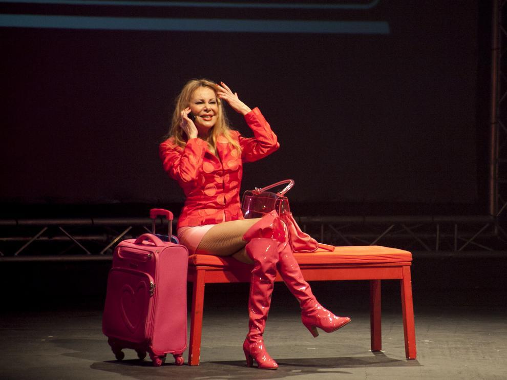 Ana Obregón, durante la representación de la obra