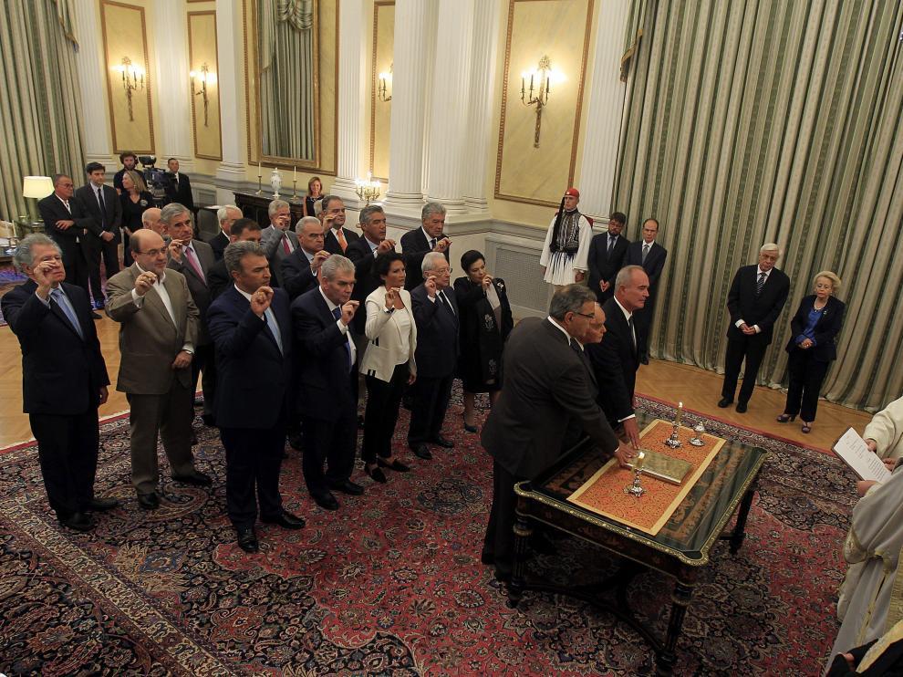 Juramento del nuevo gabinete de Gobierno en Grecia