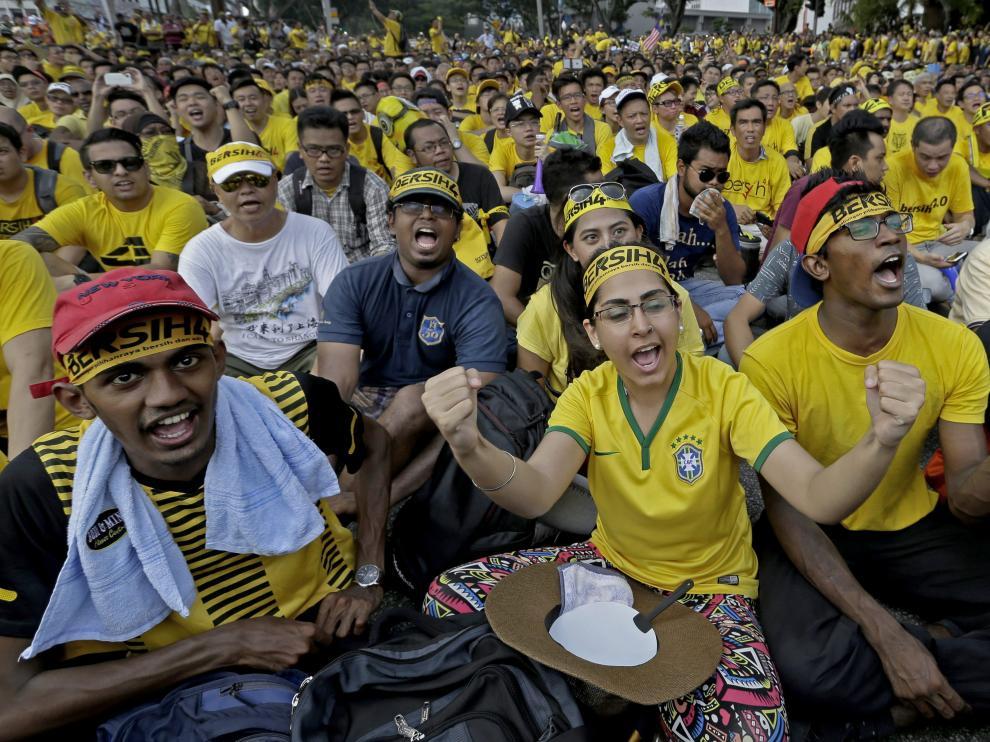 Protesta contra el Gobierno en Malasia