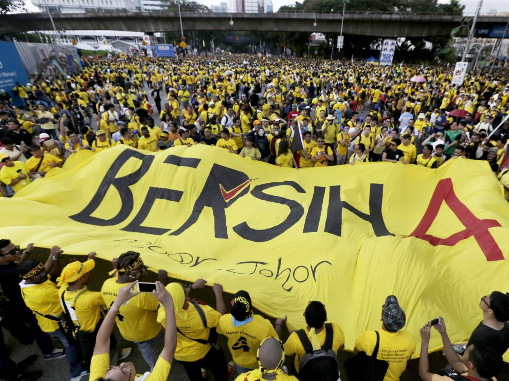 Protestas en Malasia