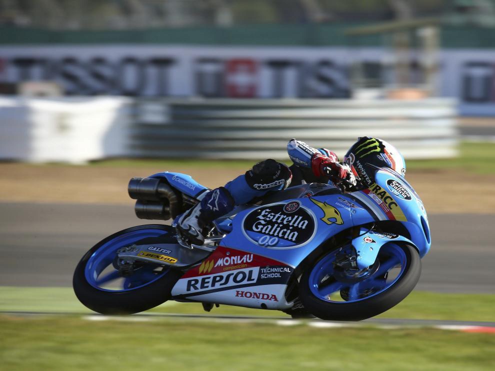 Piloto español de Moto 3 Jorge Navarro en Silverstone