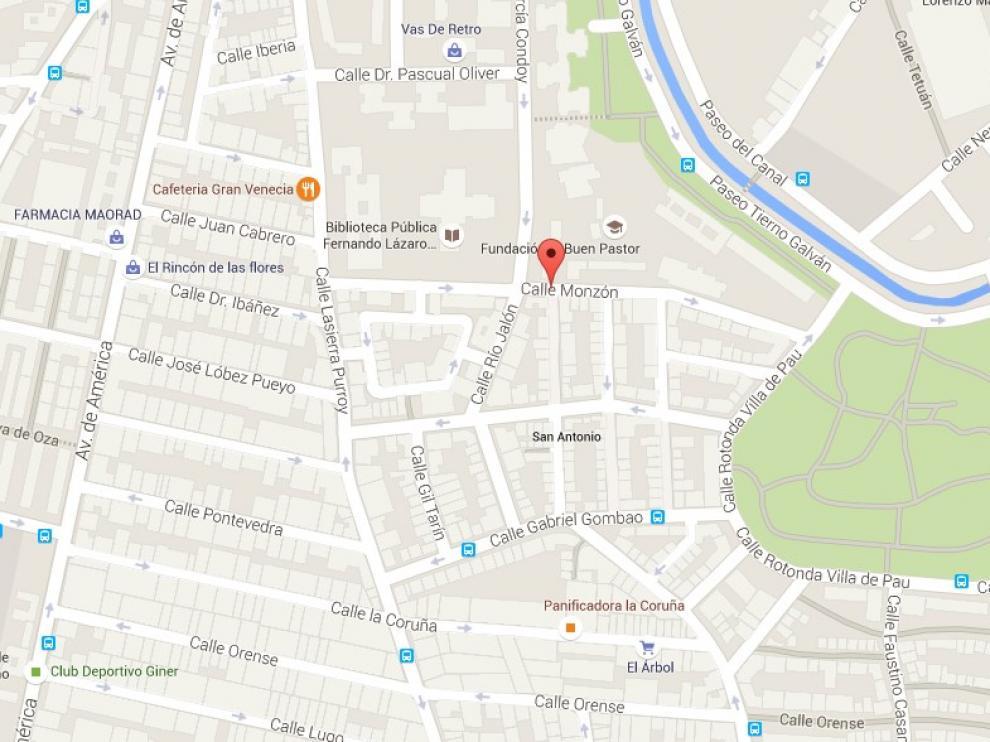 El suceso tuvo lugar en torno a las 3.15 en la intersección de las calles Monzón y Río Jalón.