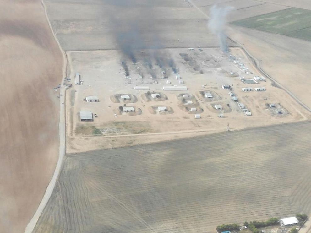 Imagen aérea de las instalaciones de la Pirotecnia Zaragozana.
