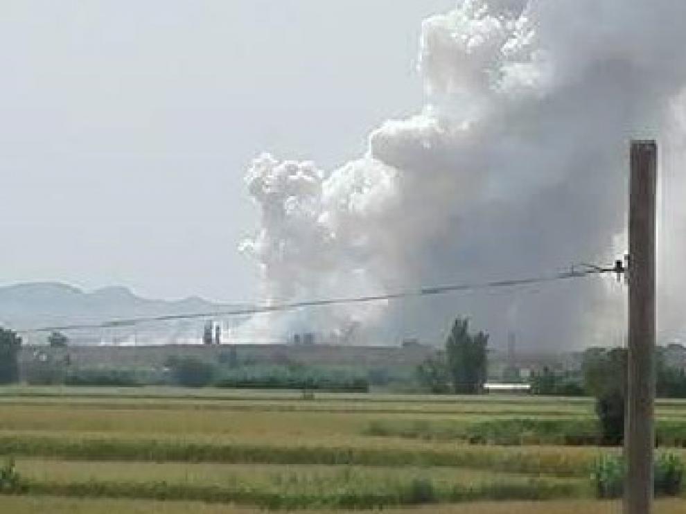 Explosión en la pirotecnia de Zaragoza