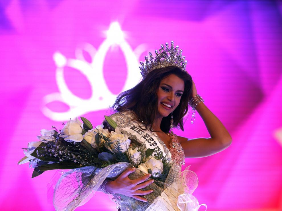 Clarissa Molina fue la tercera finalista del más reciente concurso Miss Belleza Latina.