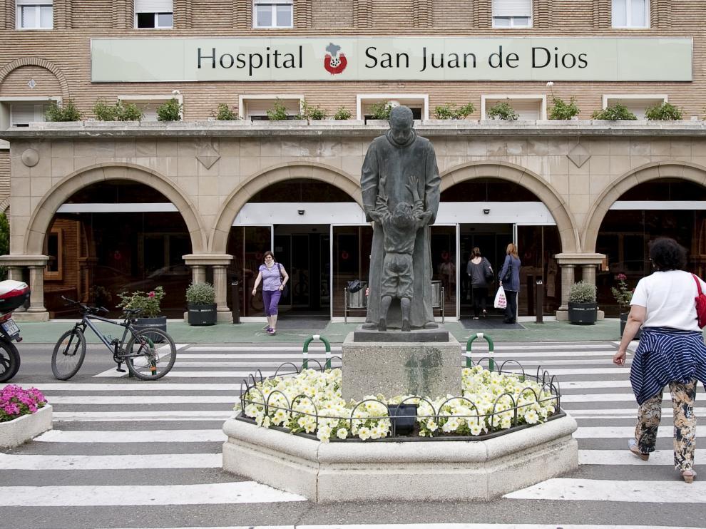 El Hospital San Juan de Dios de Zaragoza.