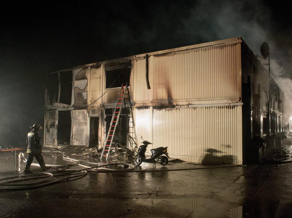 Así quedaron las instalaciones tras el incendio.