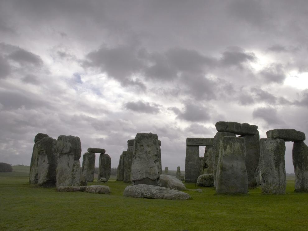 Detalle del monumento megalítico de Stonehenge.