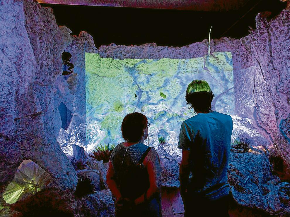 La nueva sala del Museo de Origami recrea un fondo marino, con peces y corales, todo ello realizado con papel.