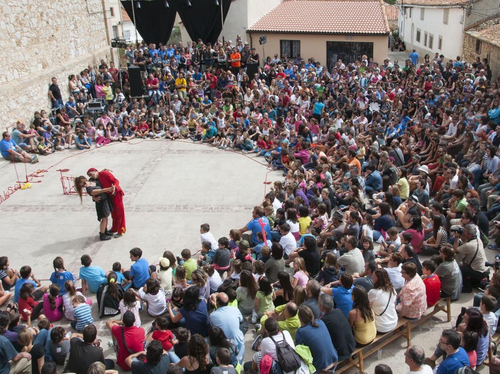 Una de las actuaciones de las pasadas ediciones del Gaire, en Pancrudo.