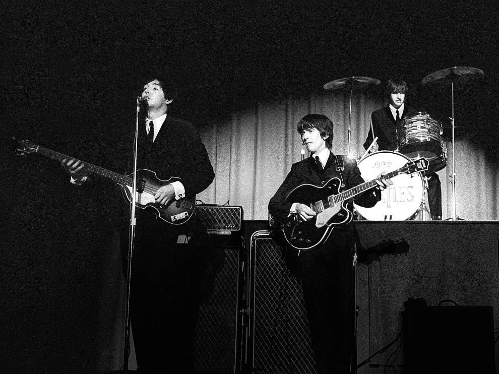 Los Beatles, en Washington, en el primer concierto de su gira por Estados Unidos de 1964.