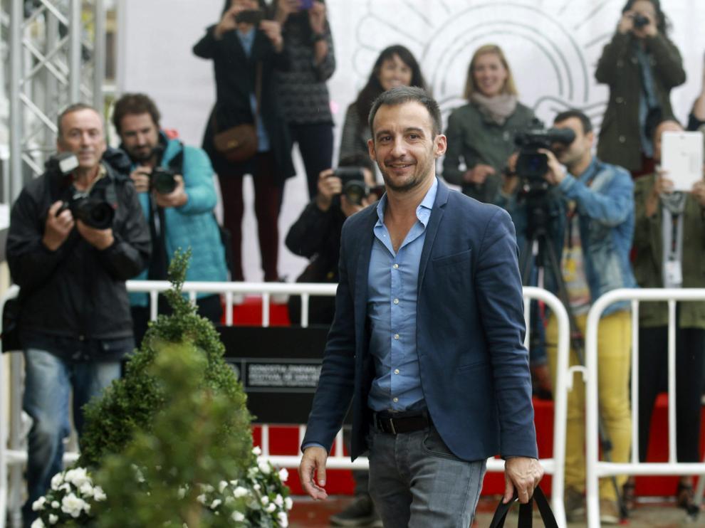 El realizador Alejandro Amenábar, a su llegada al Festival Internacional de Cine de San Sebastián.