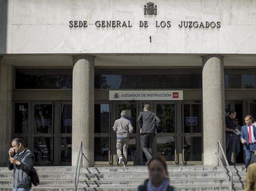 Sede de los juzgados de Madrid. En el nº 45 se investiga el caso.