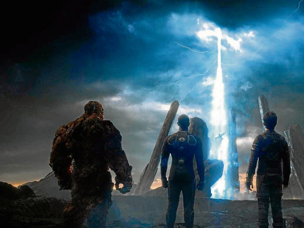Fotograma de la película 'Los cuatro fantásticos', que llega hoy a la cartelera de cine.