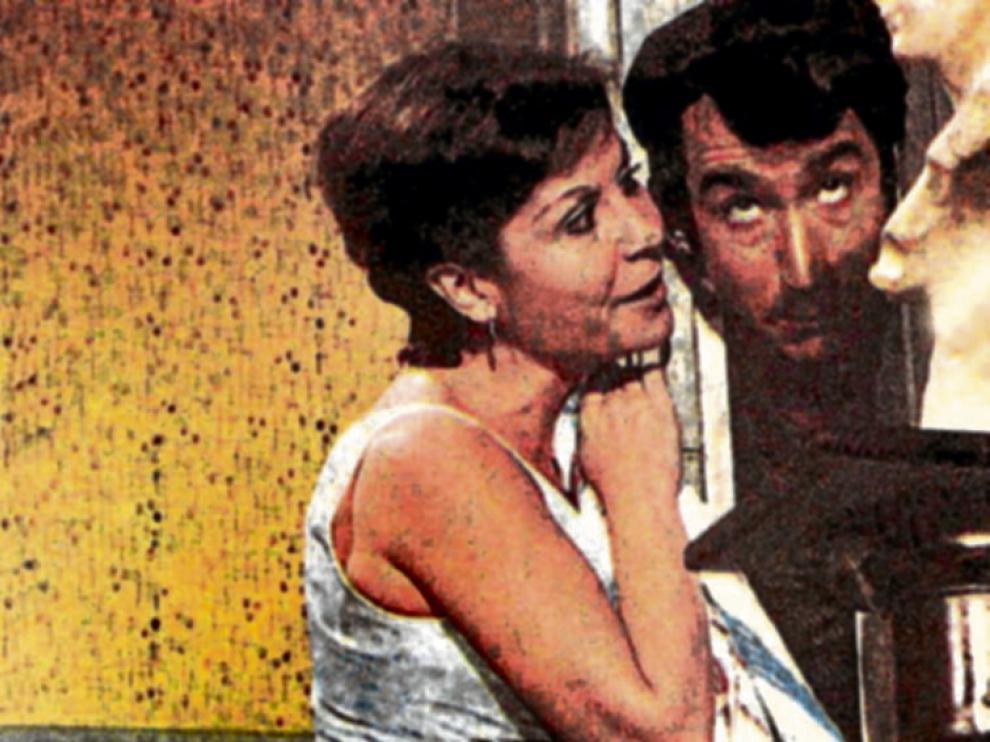 Con José Sacristán en 'Dos chicas de revista'.