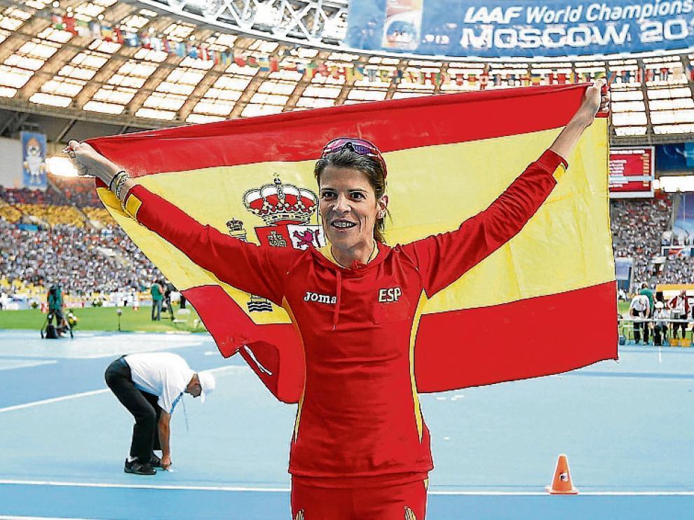 La española Ruth Beitia, una de las opciones de medalla.