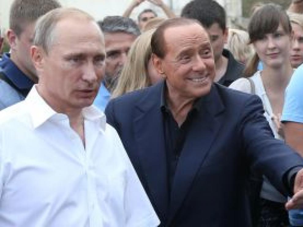 Putin y Berlusconi.