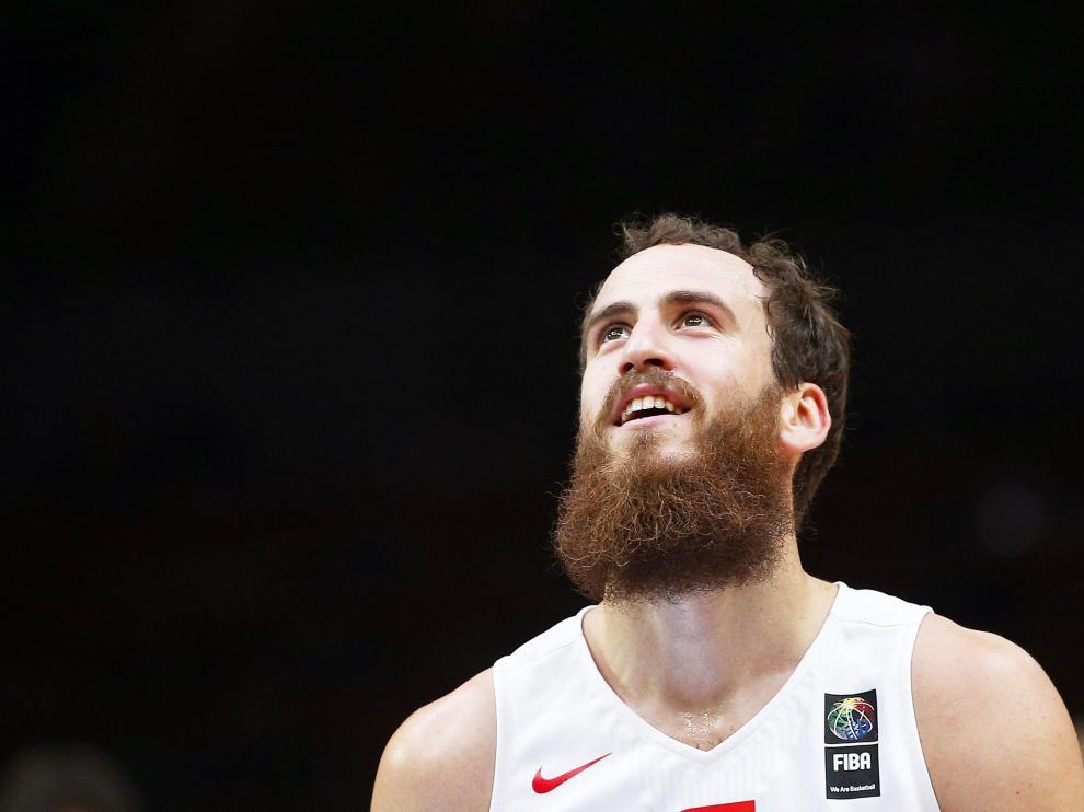Sergio Rodríguez al terminar la final del Eurobasket.