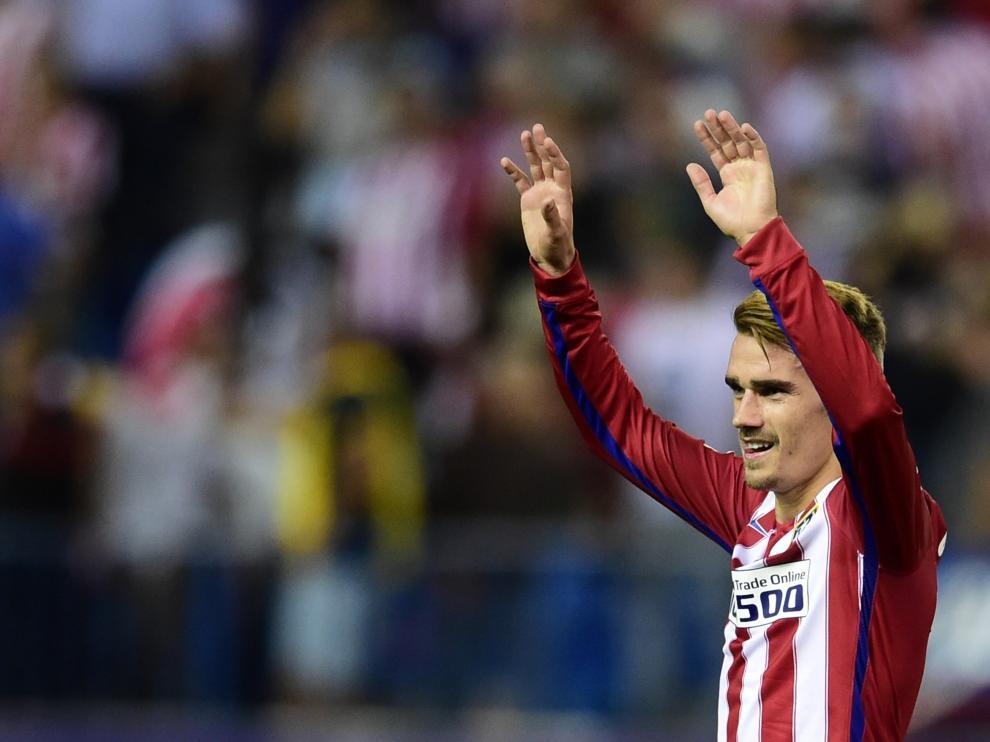 Antoine Griezmann celebrando uno de sus goles.
