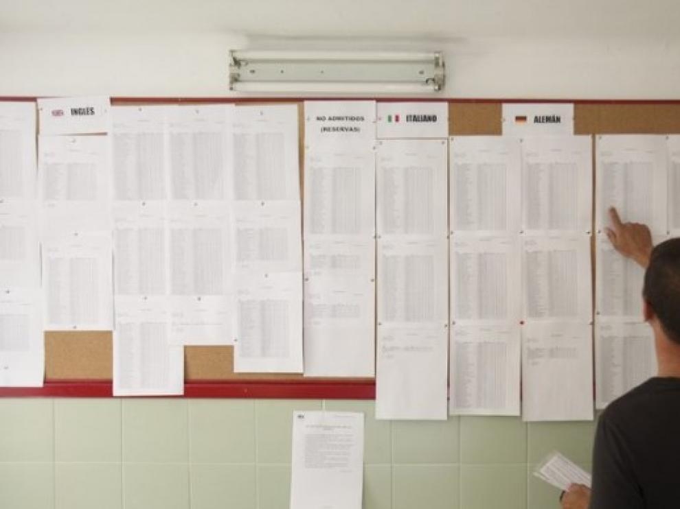 Imagen de archivo de una Escuela Oficial de Idiomas de Aragón.