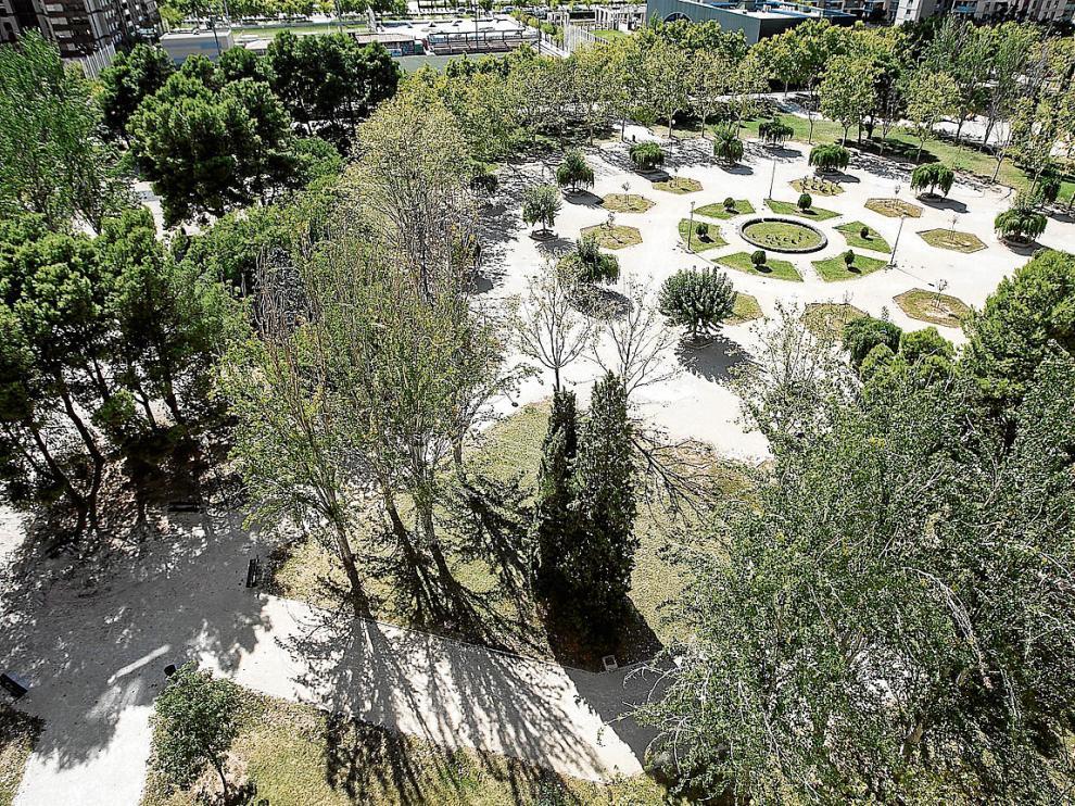 Los jardines de Al Andalus, en La Romareda, son algunos de los que se han inspeccionado.