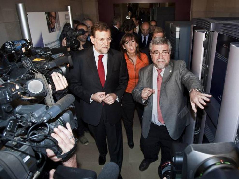Mateo Valero, con Mariano Rajoy