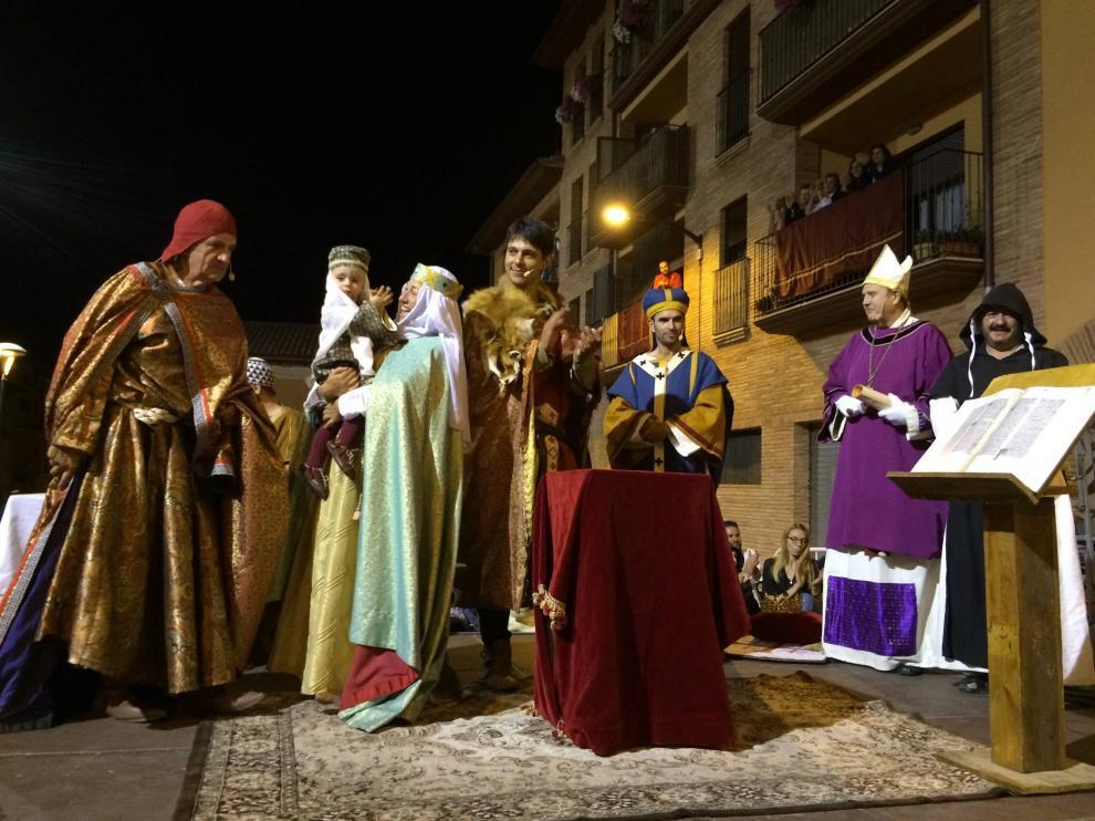 Evento de 'Cuna y corona' en Barbastro.