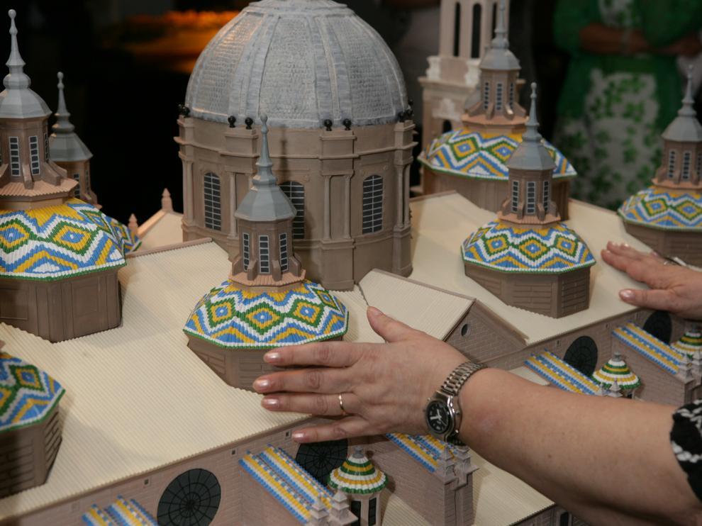 La maqueta del Pilar, réplica tiflológica a escala para el exterior que permanecerá en el Museo de la ONCE.