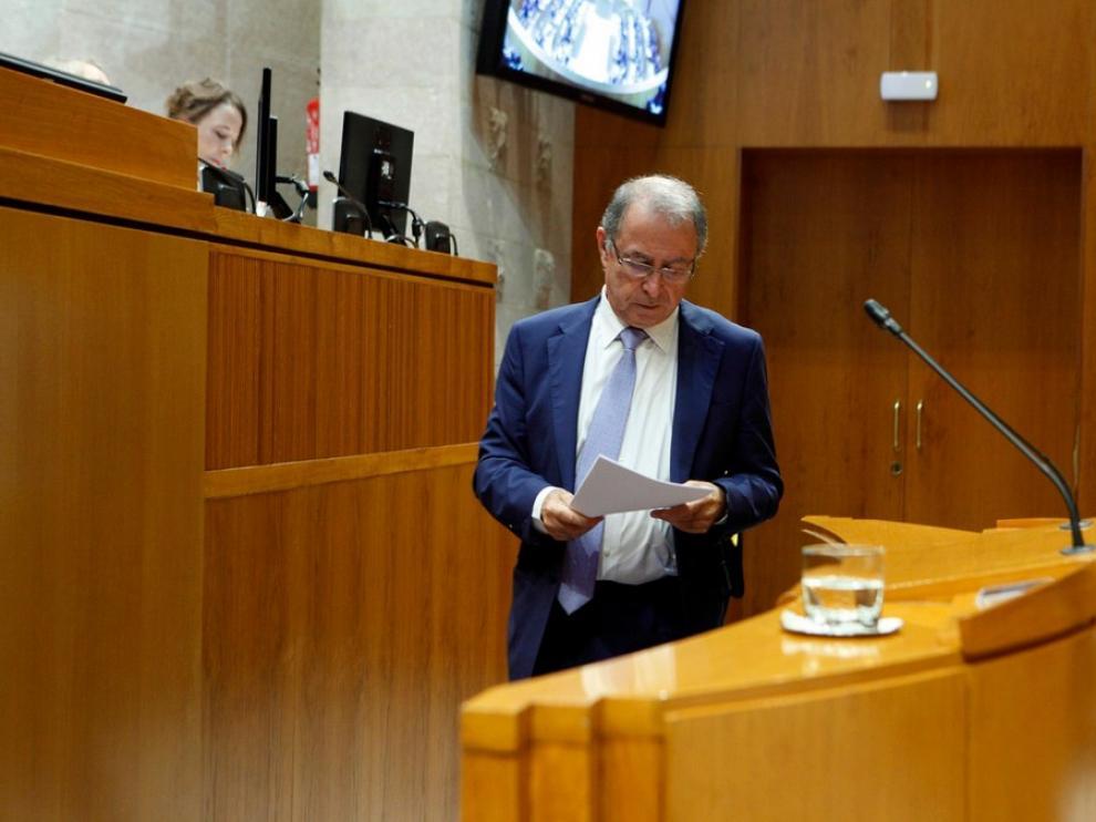 El consejero de Hacienda del Gobierno de Aragón, Fernando Gimeno.