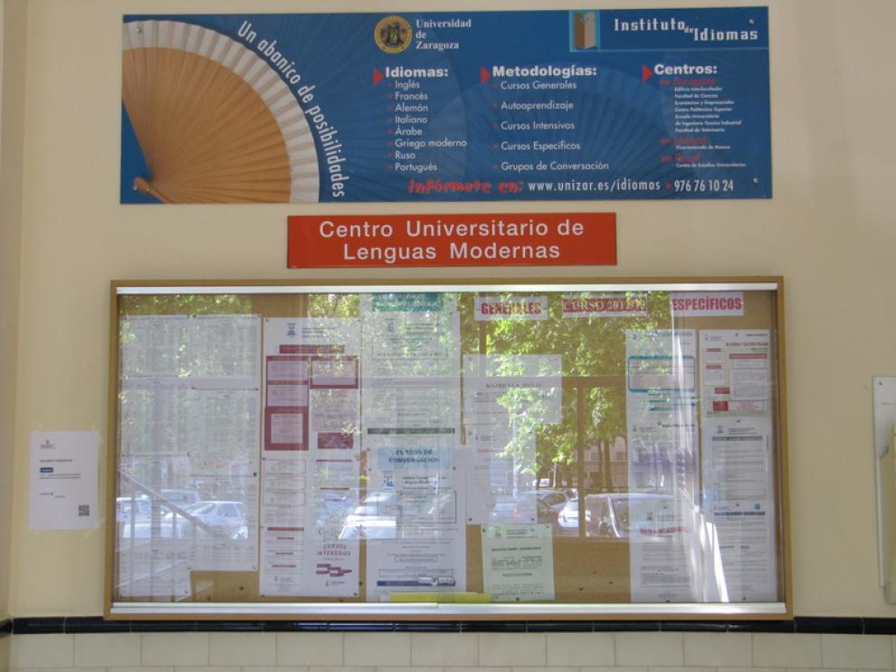 Centro de Lenguas Modernas de la Universidad de Zaragoza.