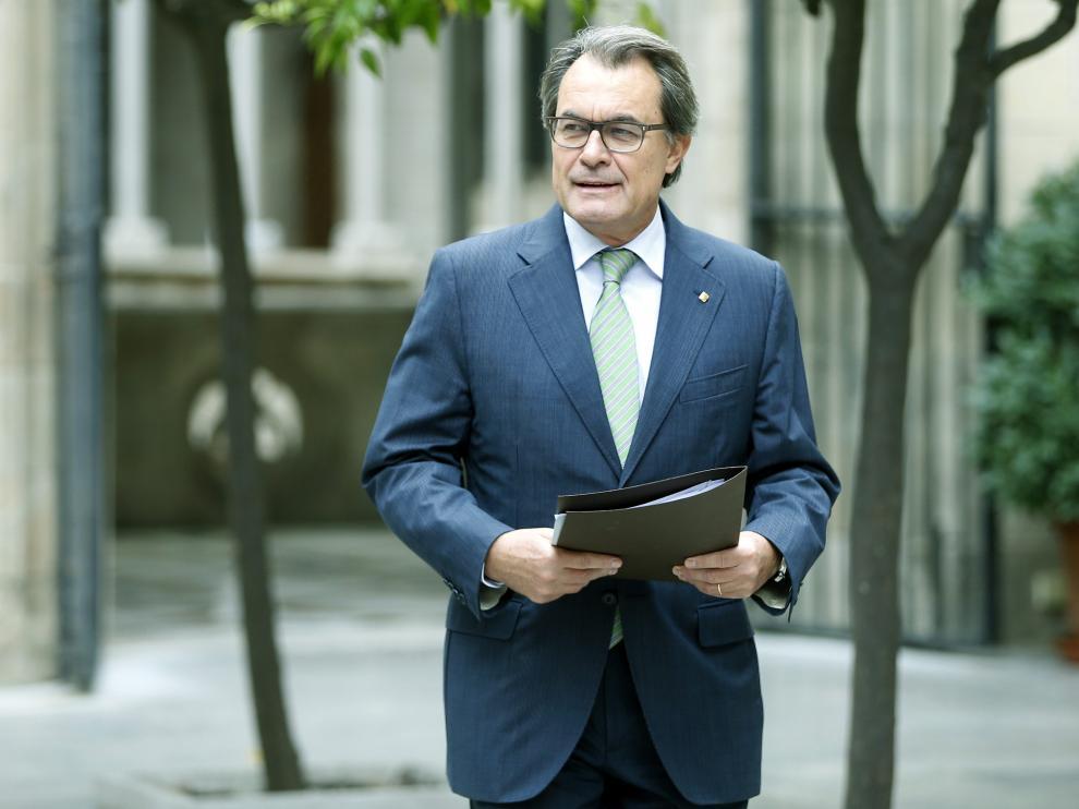 Artur Mas, este miércoles, llegando a la reunión del Gobierno catalán.
