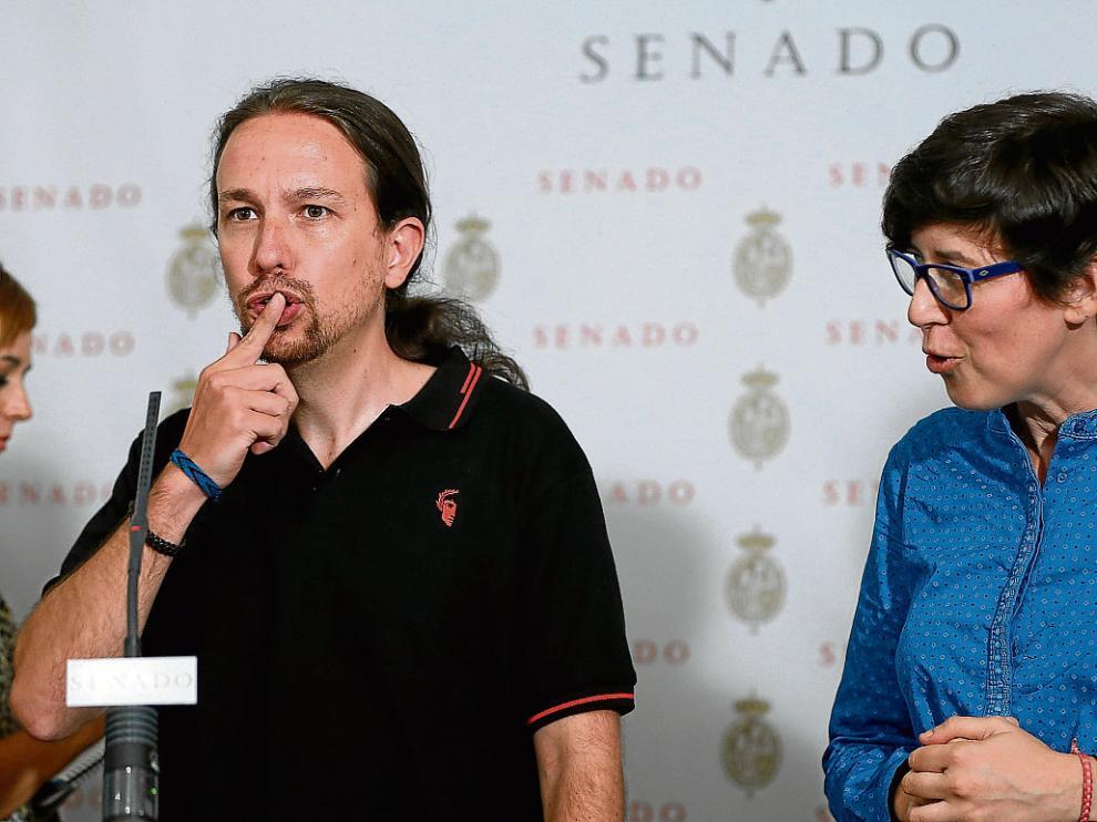 Pablo Iglesias, el pasado martes, en un acto en el Senado.