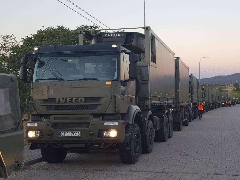 Despliegue de las tropas para las maniobras de la OTAN