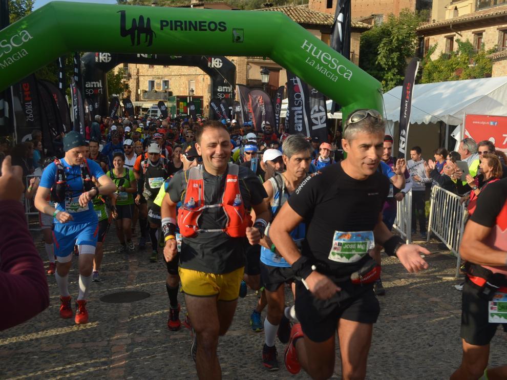 Momentos de la carrera celebra este fin de semana en Alquézar.