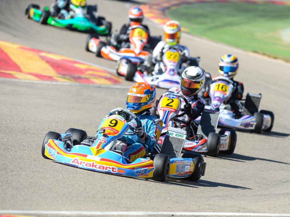 Una prueba de karting celebrada en el circuito internacional de Motorland