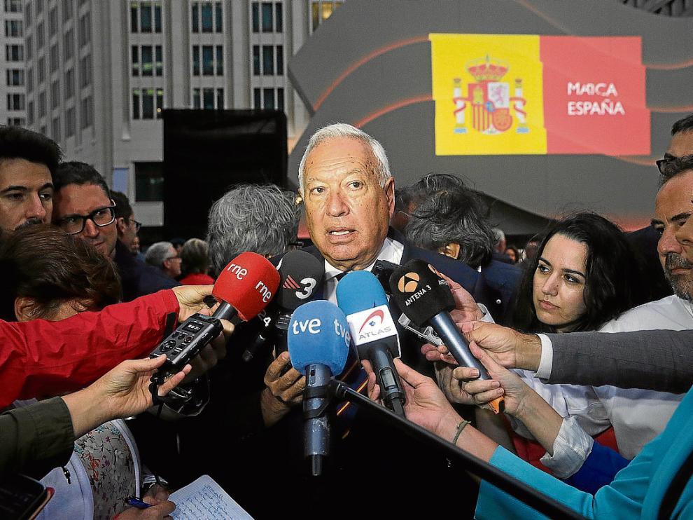 El ministro español José Manuel García Margallo, el 1 de septiembre en Meseberg (Alemania).