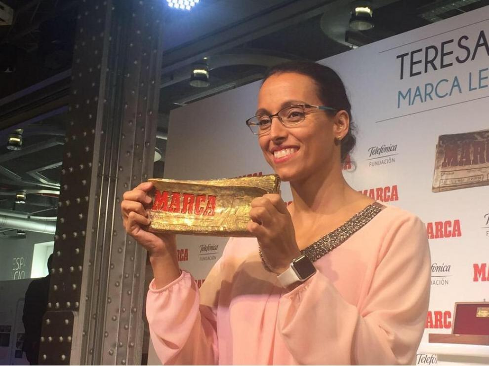 Teresa Perales recoge su premio