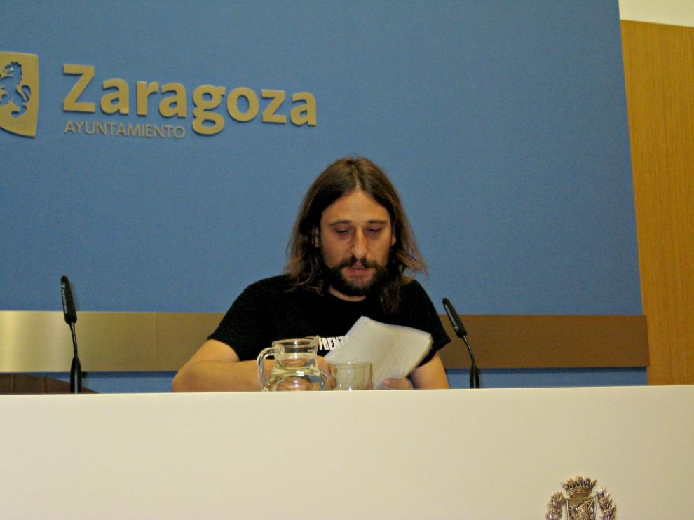 Pablo Híjar en la rueda de prensa.